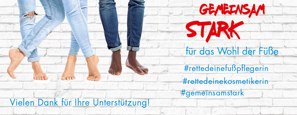 Existences are threatened if the foot care service sector is not allowed to work. Give your vote & stay together with us COMMON STRONG!